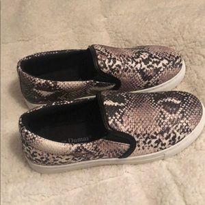 Pierre Dumas Shoes - snake slip on sneakers